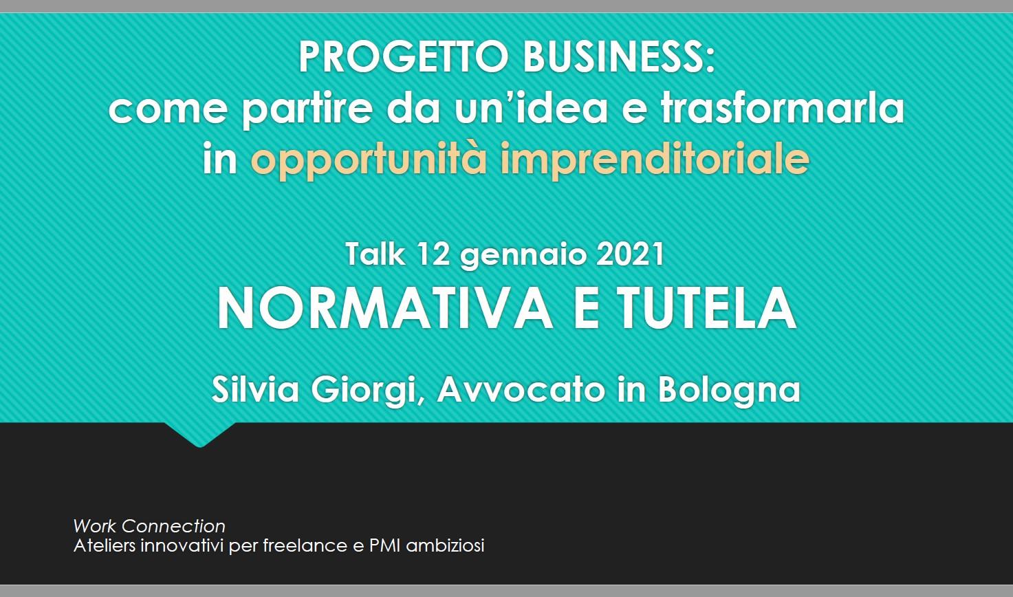 normativa e tutela progetto business